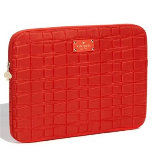 Kate Spade 'Signature Spade' Quilted Laptop Sleeve